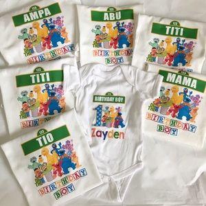 Shirts Amp Tops Sesame Street Theme Birthday Family Shirt